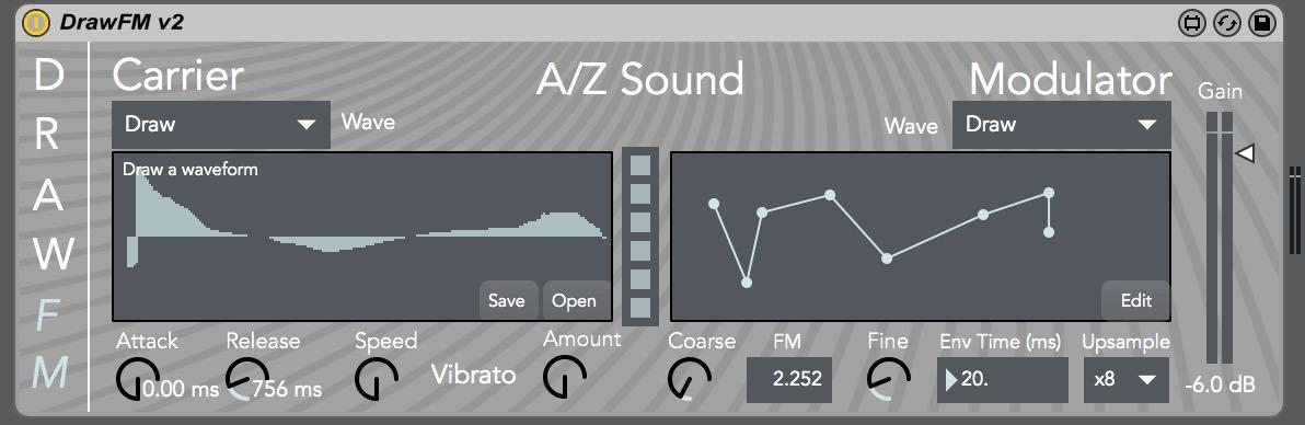 DrawFM - Interface