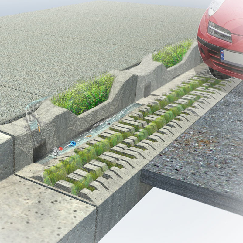 (C)urban Ecology   Re-imagining the typical curb and gutter infrastructure as a site for micro-remediation of polluted storm water.