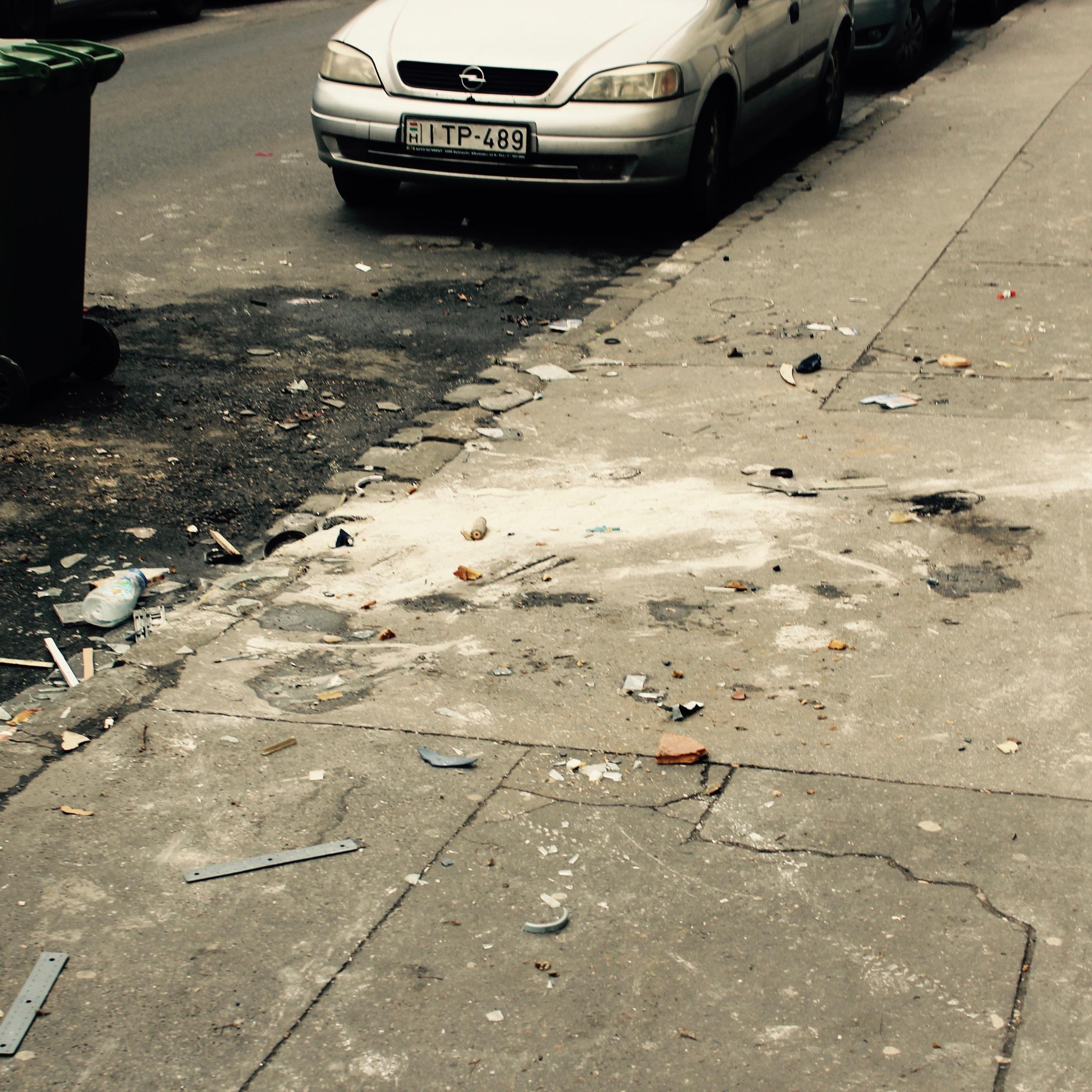 Remains of a pile #2, Szerdahelyi Street.