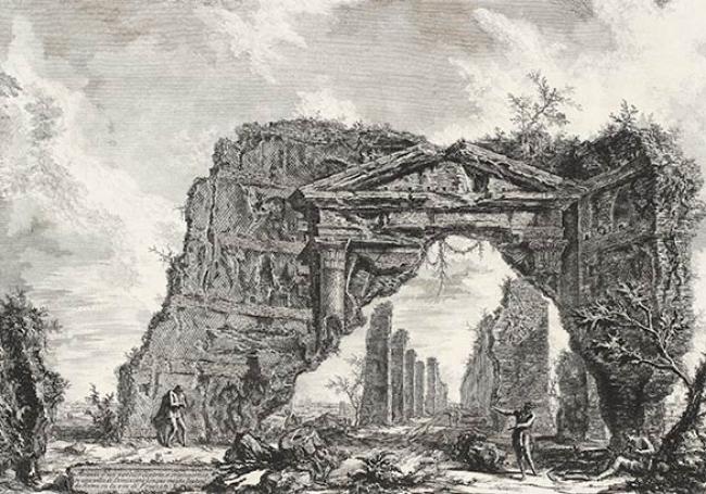 """[Etching from Piranesi's """"Veduti"""" series, 1756]"""