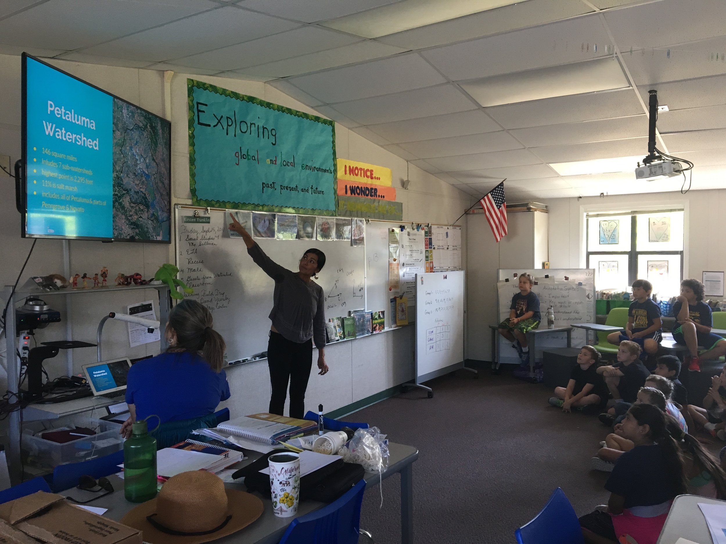 Michelle introduces students to our watershed during the very first Watershed Classroom Orientation!