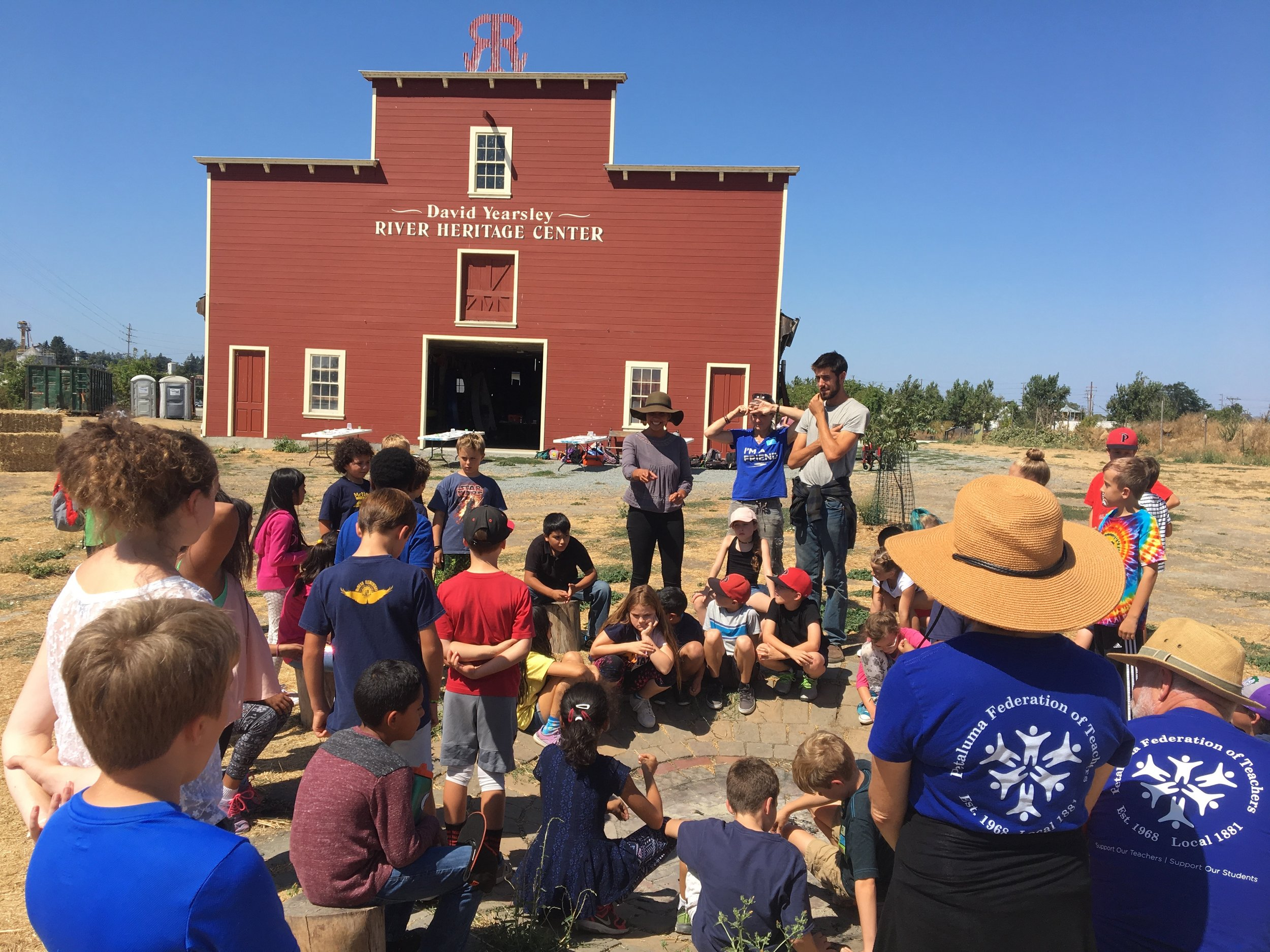 Students at the David Yearsley River Heritage Center.