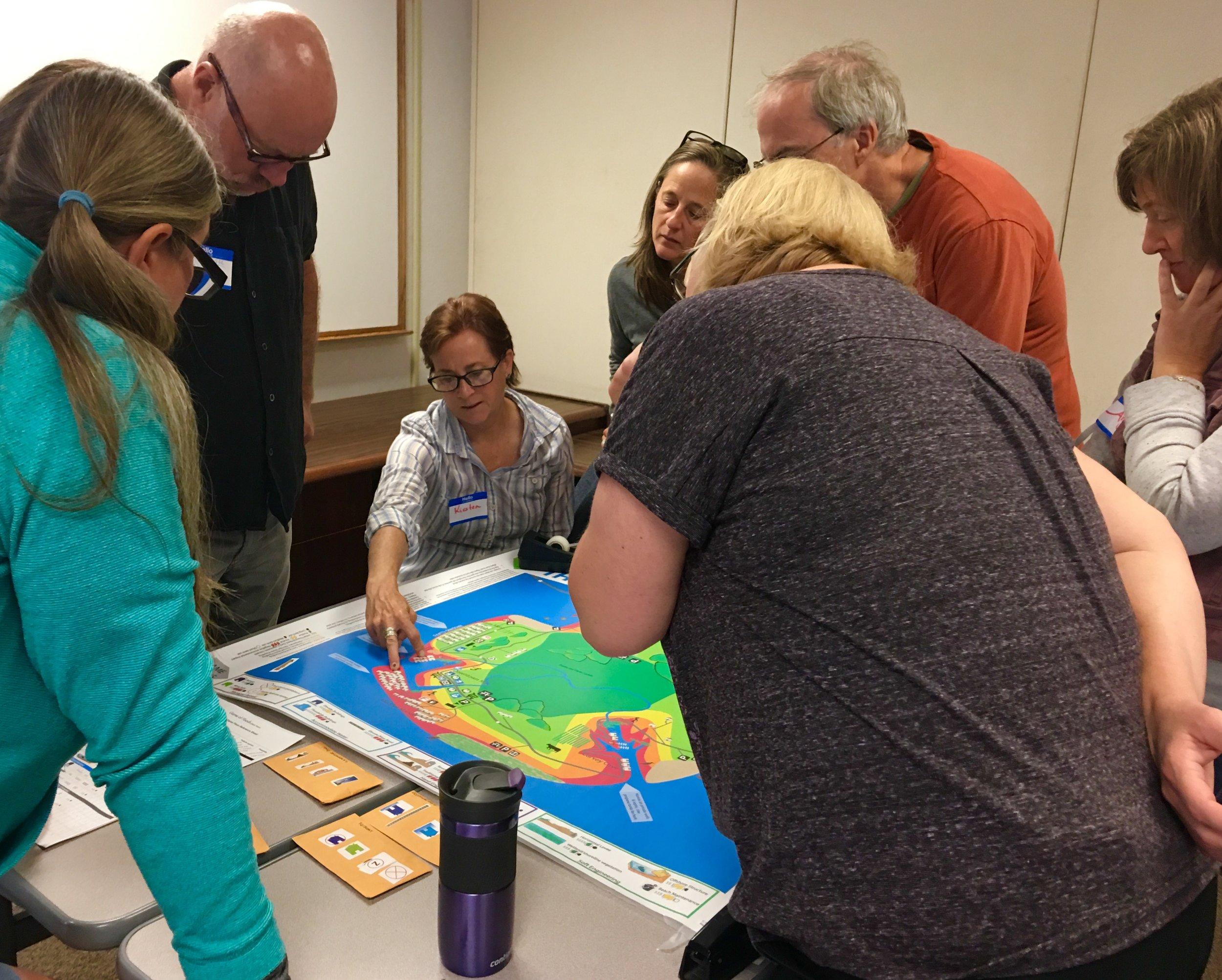 Teachers Play the Game of Floods