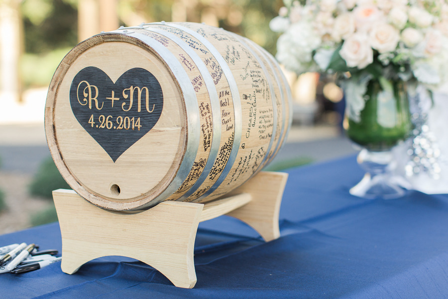 "One of our Branded Wine Barrel ""Guest Books.""   Photo by Carlie Statsky."