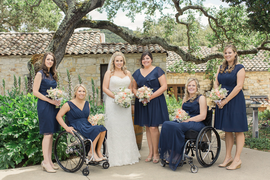 Bride Renée with her leading ladies… love the color palette!   Photo by Carlie Statsky.