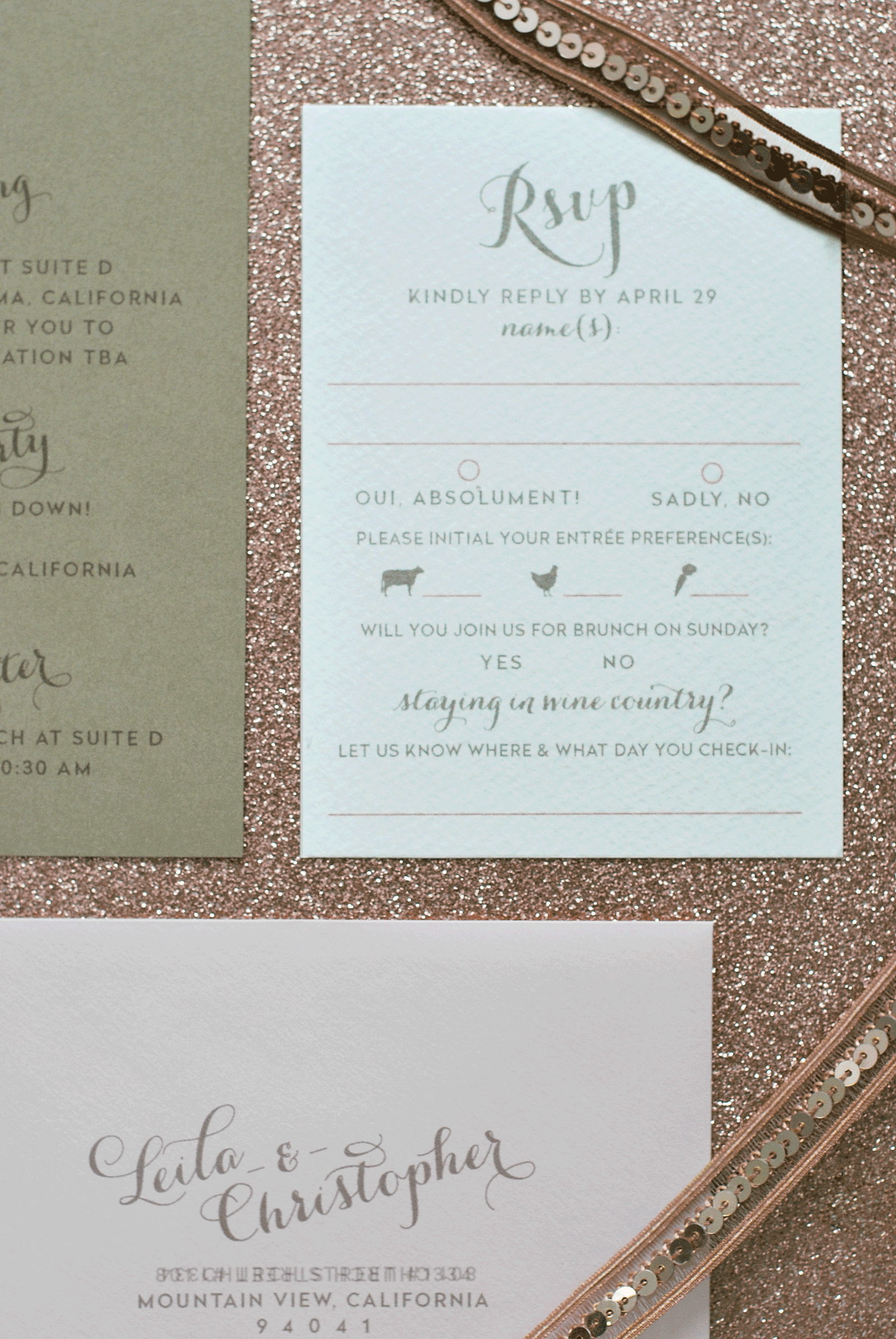 Reply Card & Envelope
