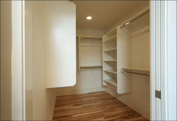 Master walk in closet with organizer