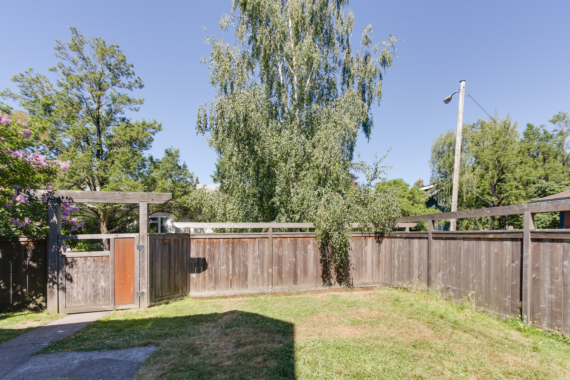 Large fenced back yard