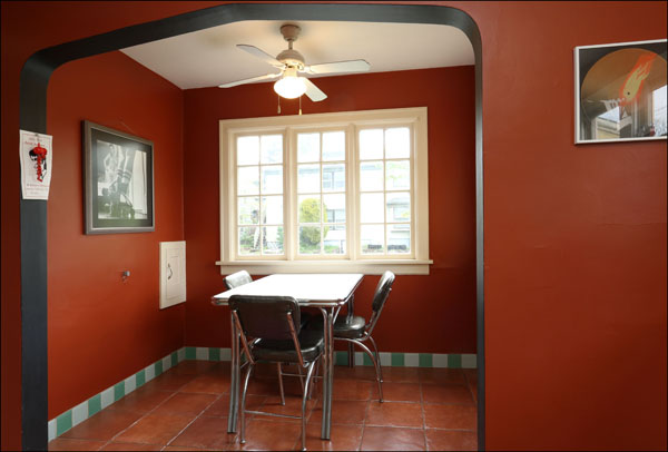 Dining area off the kitchen with large windows for great light.