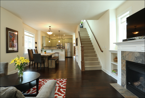 Open and spacious floor plan on main floor