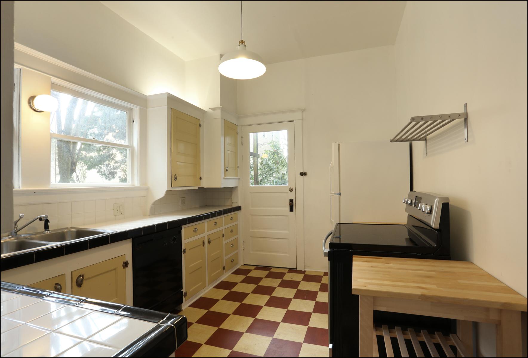 First floor kitchen - door leads to back yard.