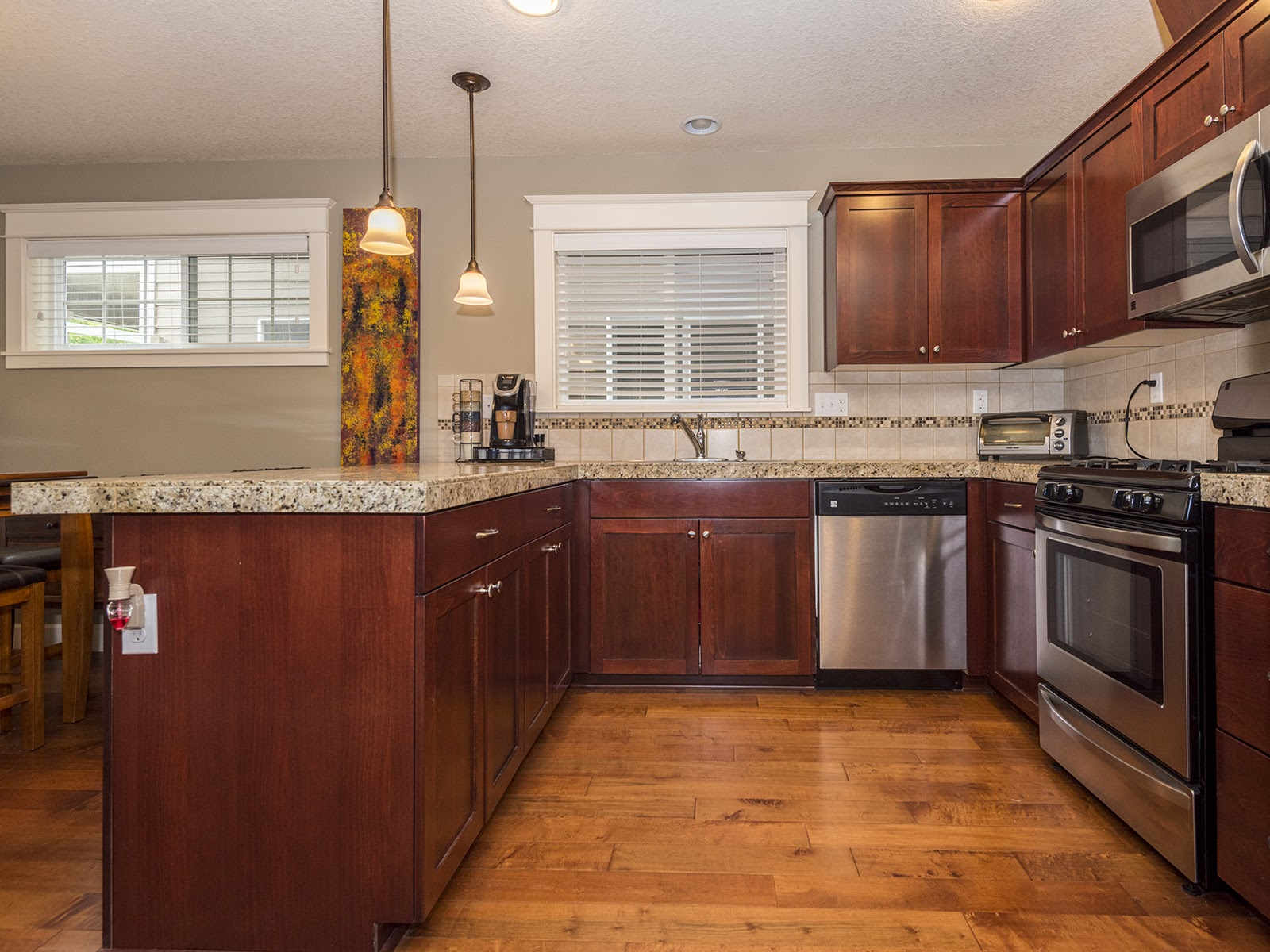 spacious kitchen with energy star SS appliances.