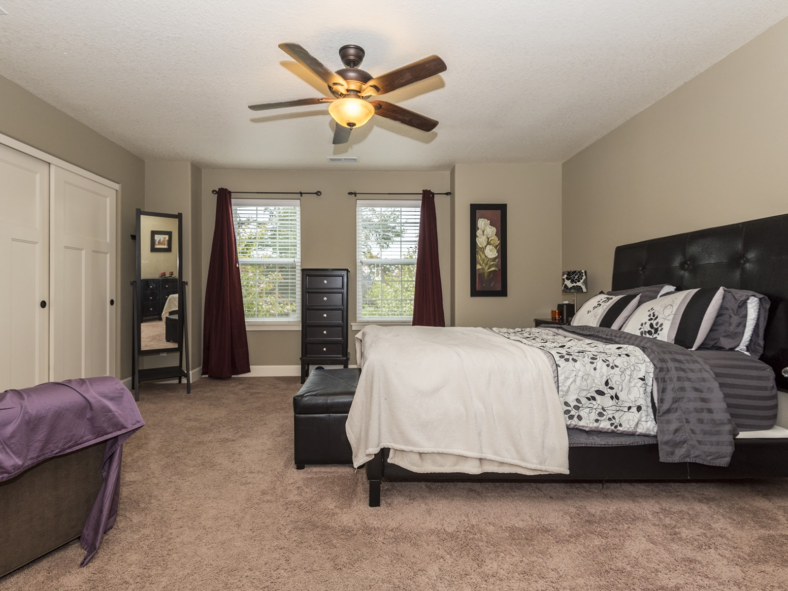 2nd floor master bedroom with large closets