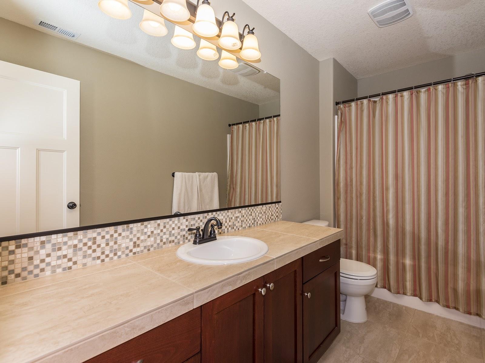 Generous sized hall bath.