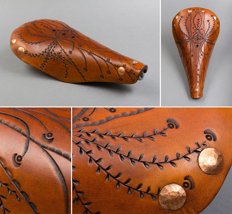 Obsidian Monarch custom leather work
