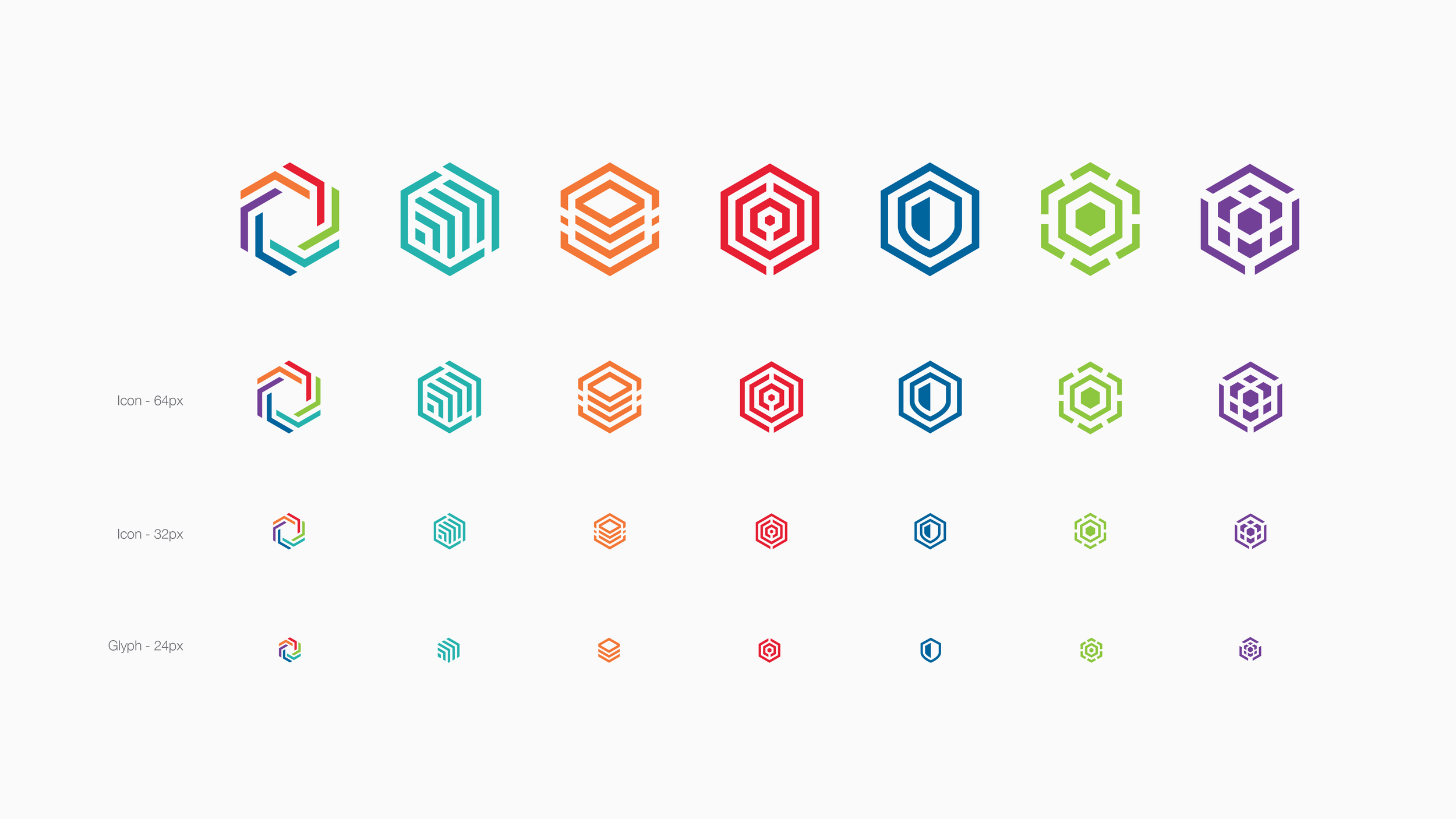 Final logos at different scales for responsive design
