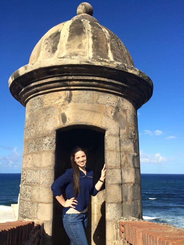 "Jeisianne in her native Puerto Rico. This ""garita"" is located in El Morro, San Juan."