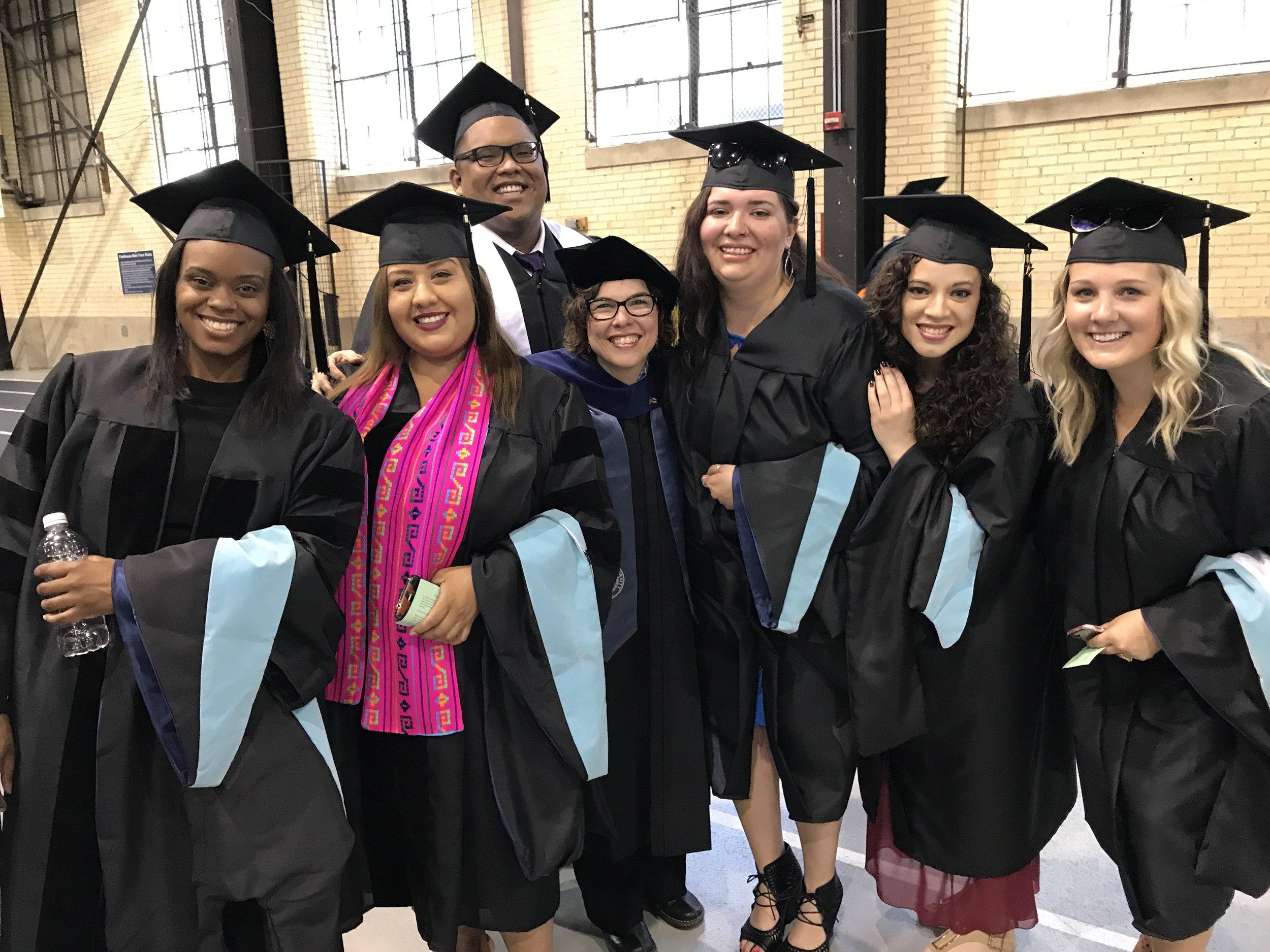 Graduation!!! Dr. Odessia Knowles, Dr. Marsha Tafoya Ávila, Education Specialist Lesther A. Papa, Dr. Domenech Rodríguez, Master Alexandra K. Reveles, Master Jeisianne Rosario Colón, Master Nicole Feigt.
