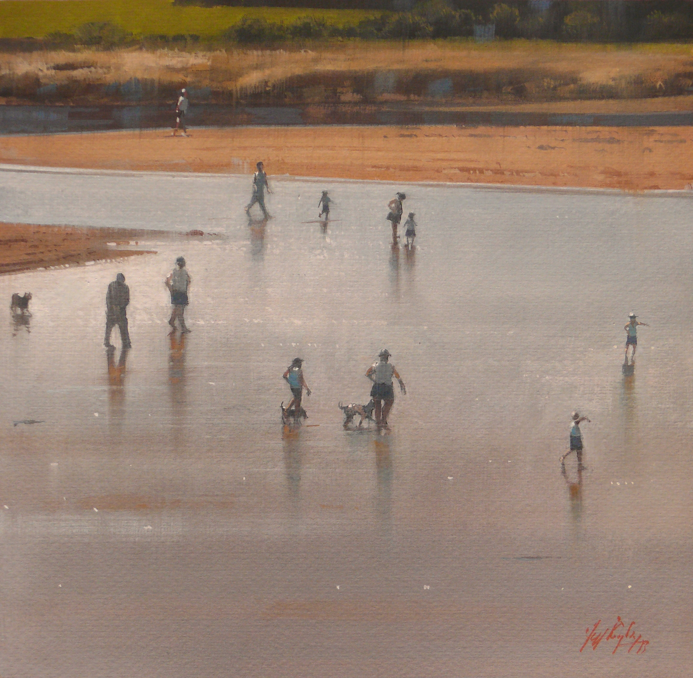 Low Tide, Umina Gouache on paper.jpg