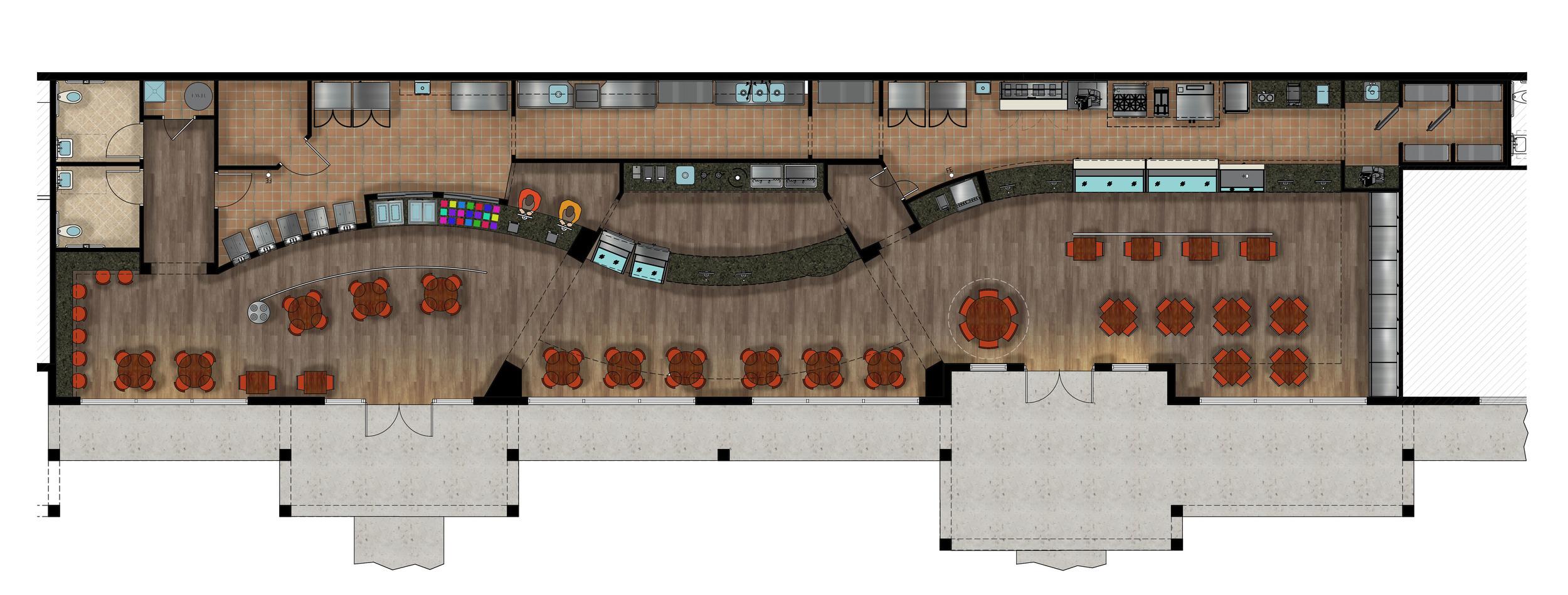 Welli Deli Restaurant Floor Plan