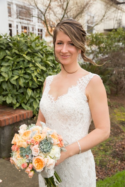 The beautiful bride with her bouquet.jpg