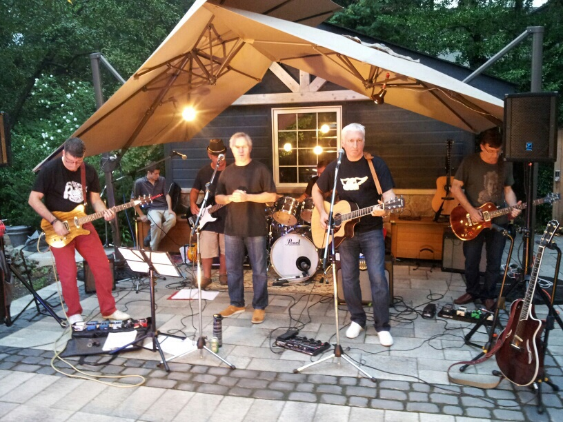 Rockin out at Paul's party. Thanks for joining and jamming with us Paul! What a host!