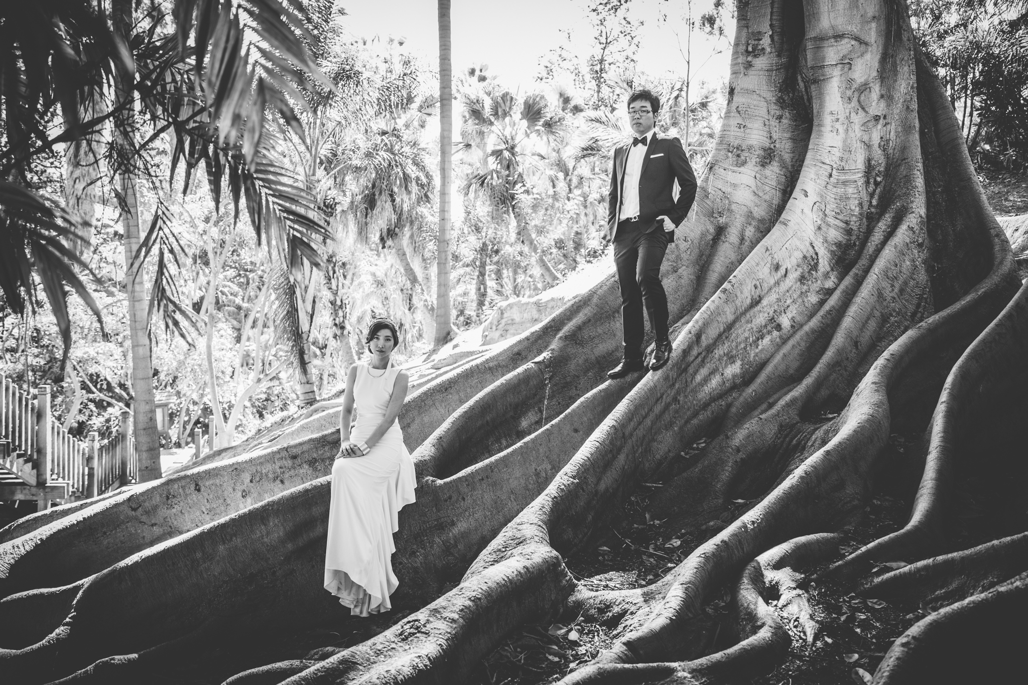 creative engagement session in balboa park