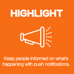 attendee push notifications