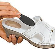 These little suckers come in all colors so that when you add them to your sandals you won't see them and they make a huge difference.   http://www.footsmart.com/P-Instant-Arches-Pr-10151.aspx