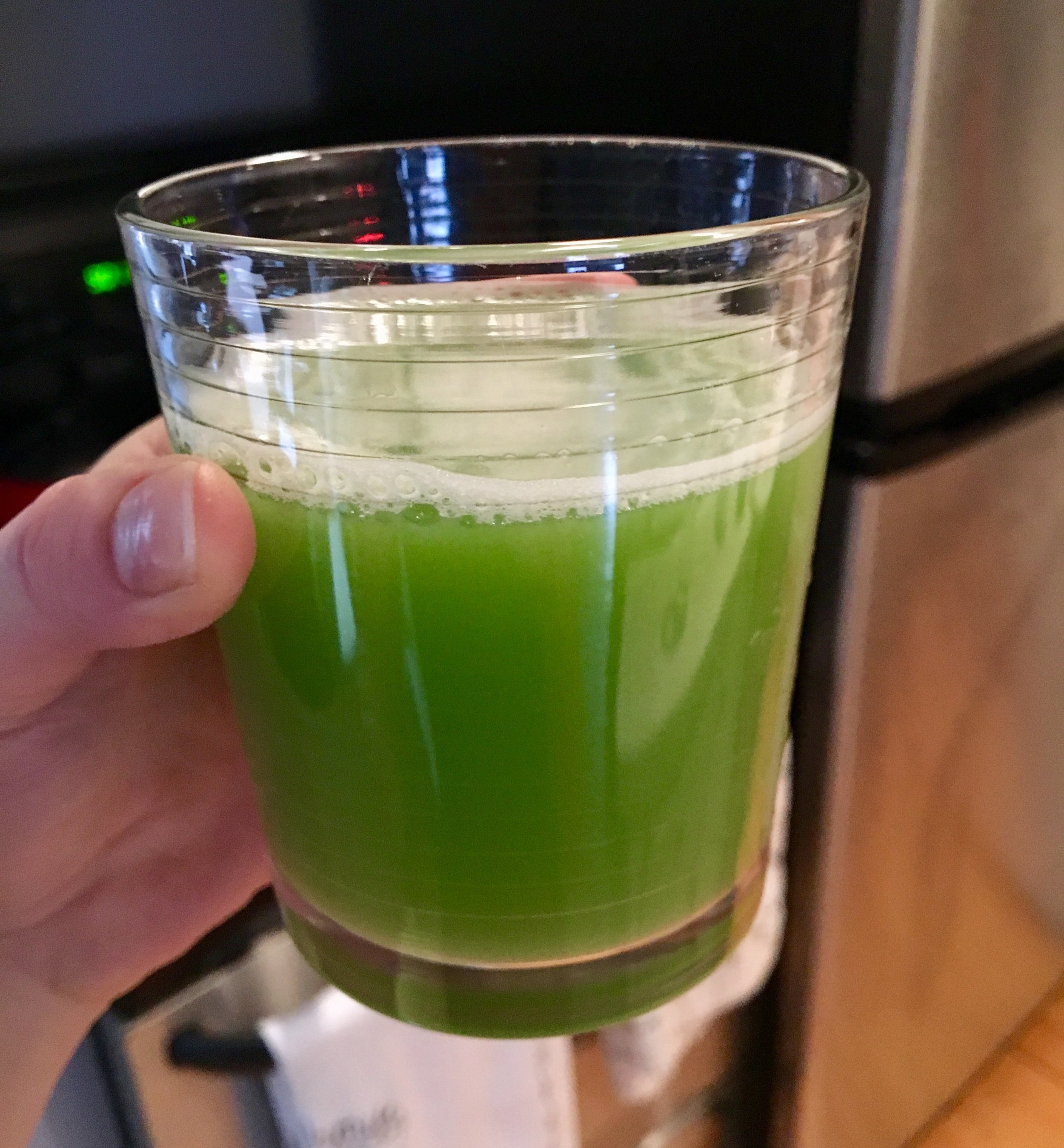 My attempt at celery juice.