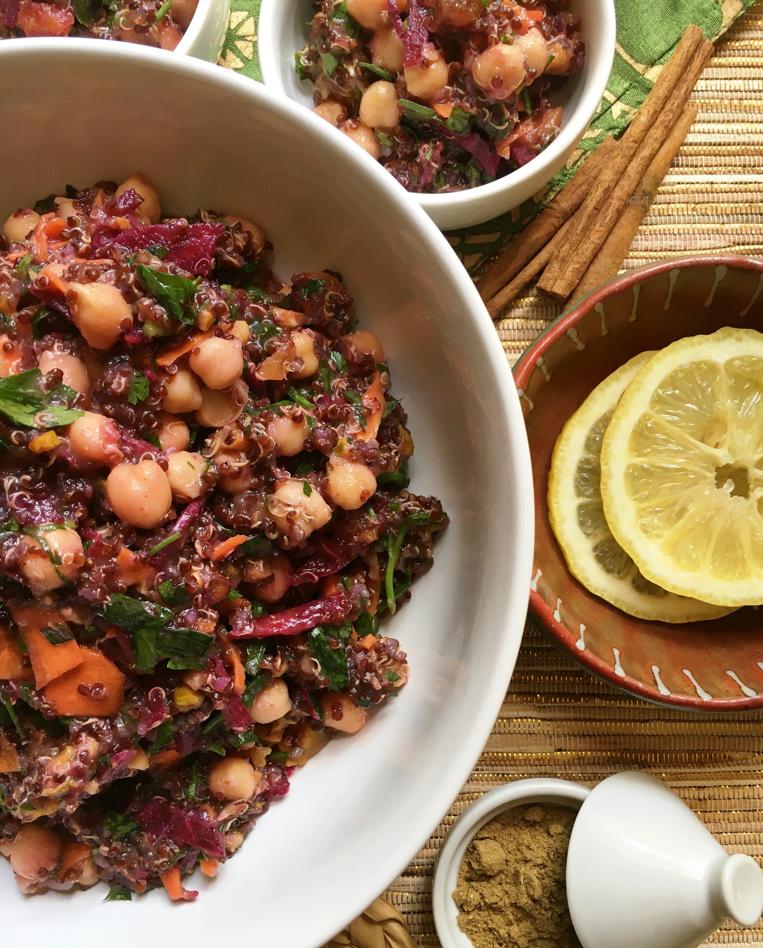 'ROCCAN RED QUINOA SALAD (serve as 2 large salads OR 4 side salads)