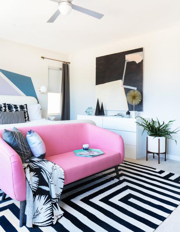 Jaime Derringer's master bedroom on Design Milk