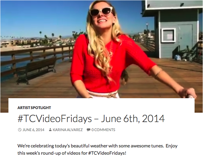 Aloha Radio featured on TuneCore's #TCVideoFridays with  Holidays in California  video.