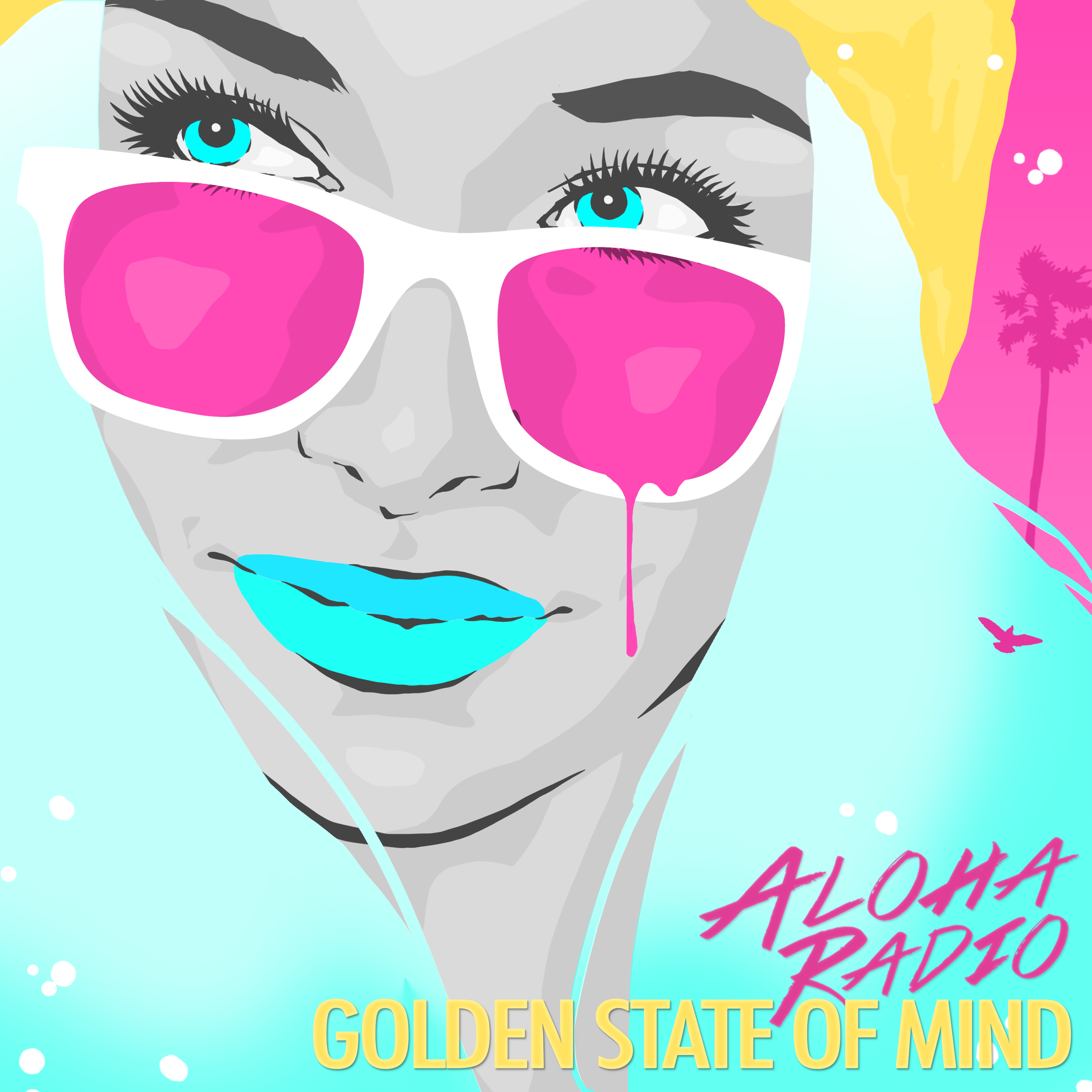 Aloha Radio's New Album 'Golden State of Mind' will be released Friday, June 23rd!   Artwork by James Haunt