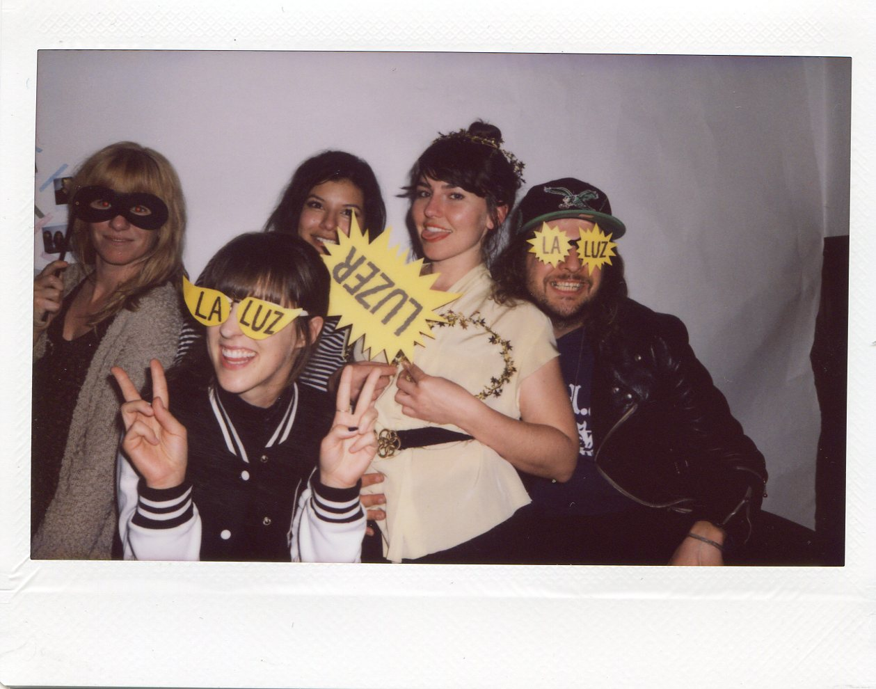 Jenn from Upset, Allie from Peach Kelli Pop, Mukta, Amy, and Kyle from King Tuff