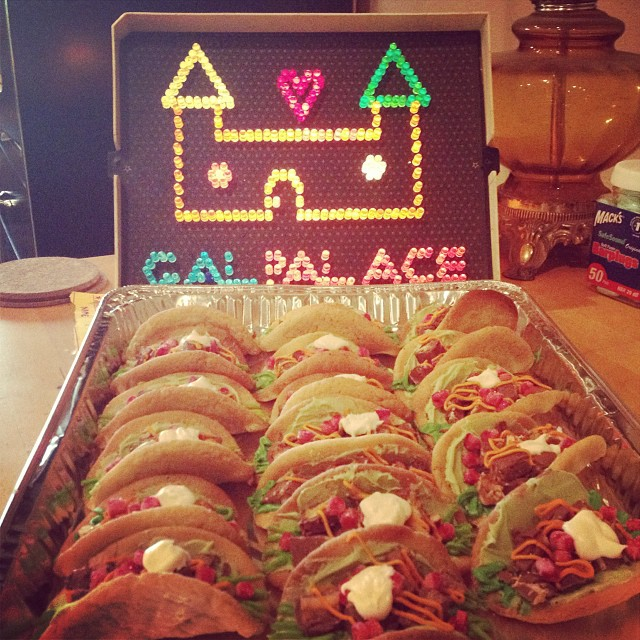 Awesome candy-filled cookie tacos