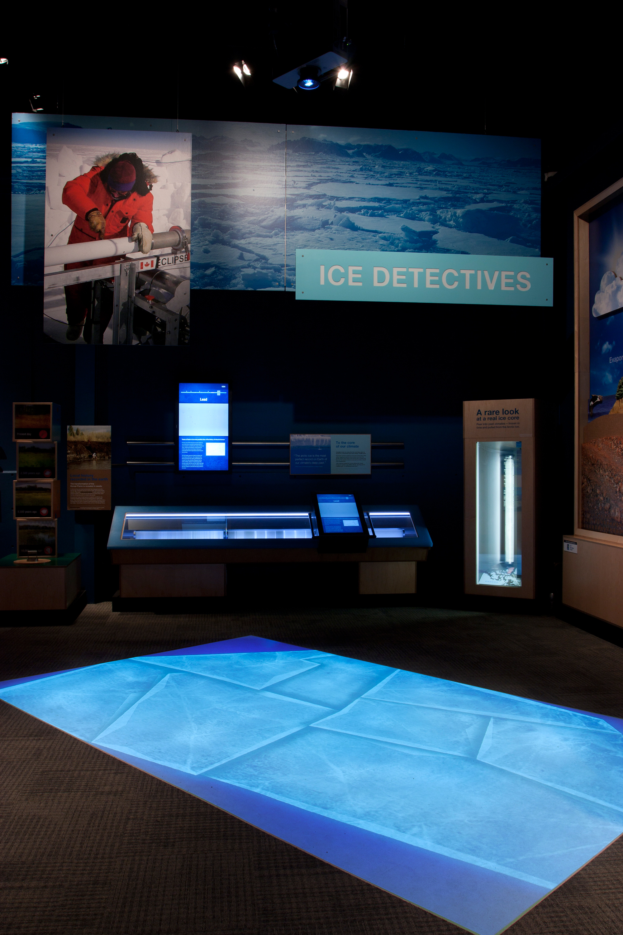 The  Ice Detectives  exhibit. Photo by NGX Interactive.