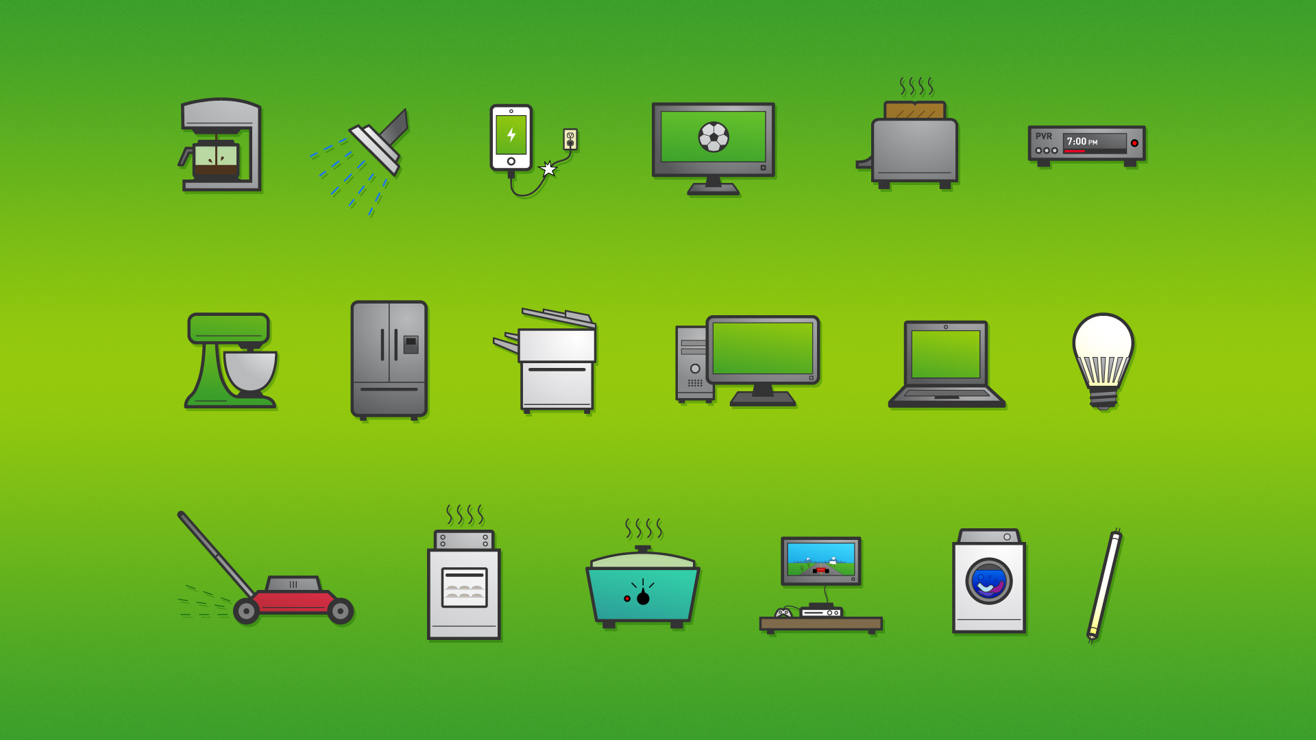 Illustrating icons for this project was really fun!