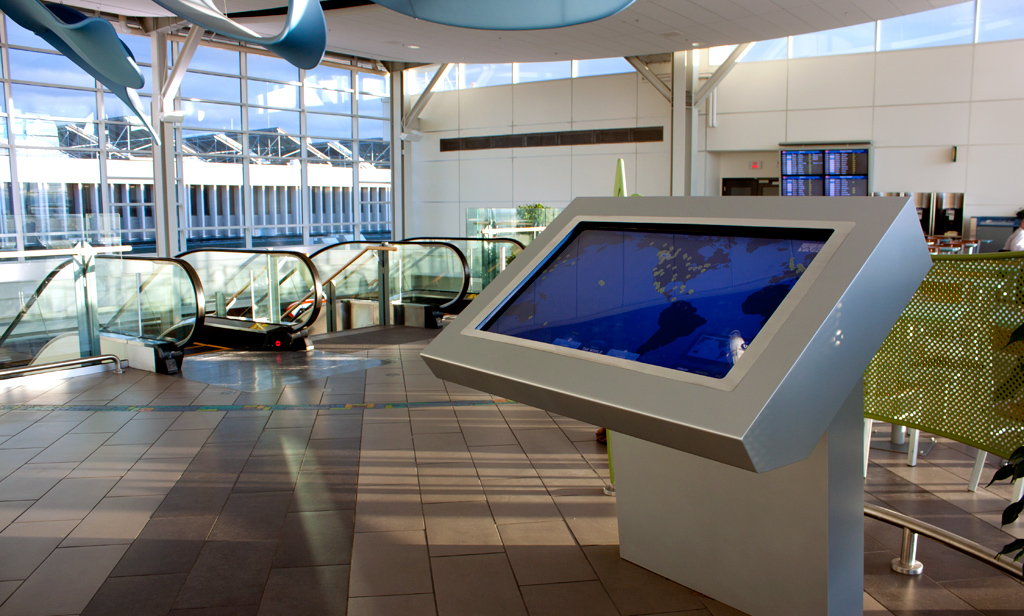 The touch table at the Observation Area. Photo by NGX Interactive.