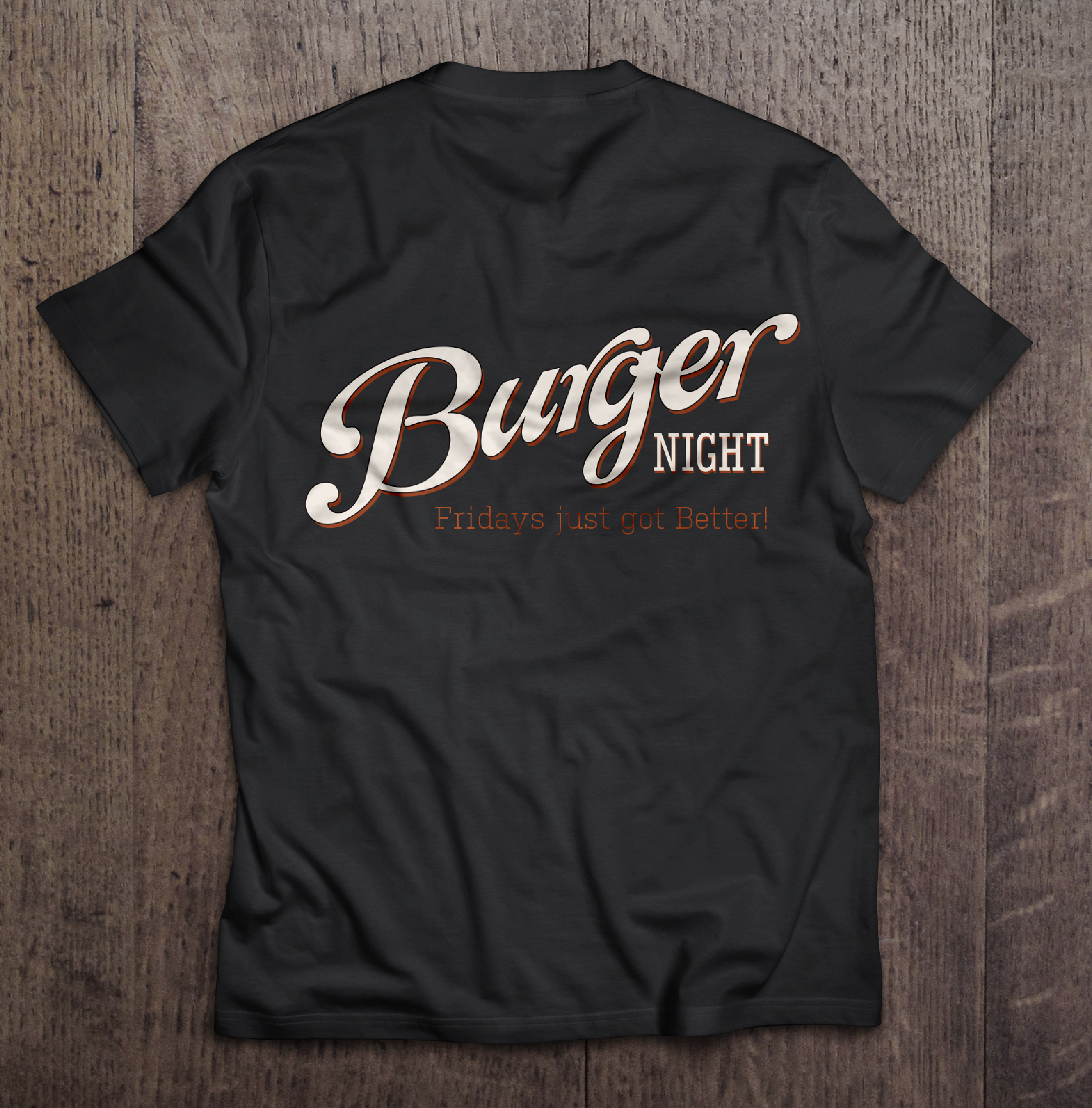 Burger night t-shirt back
