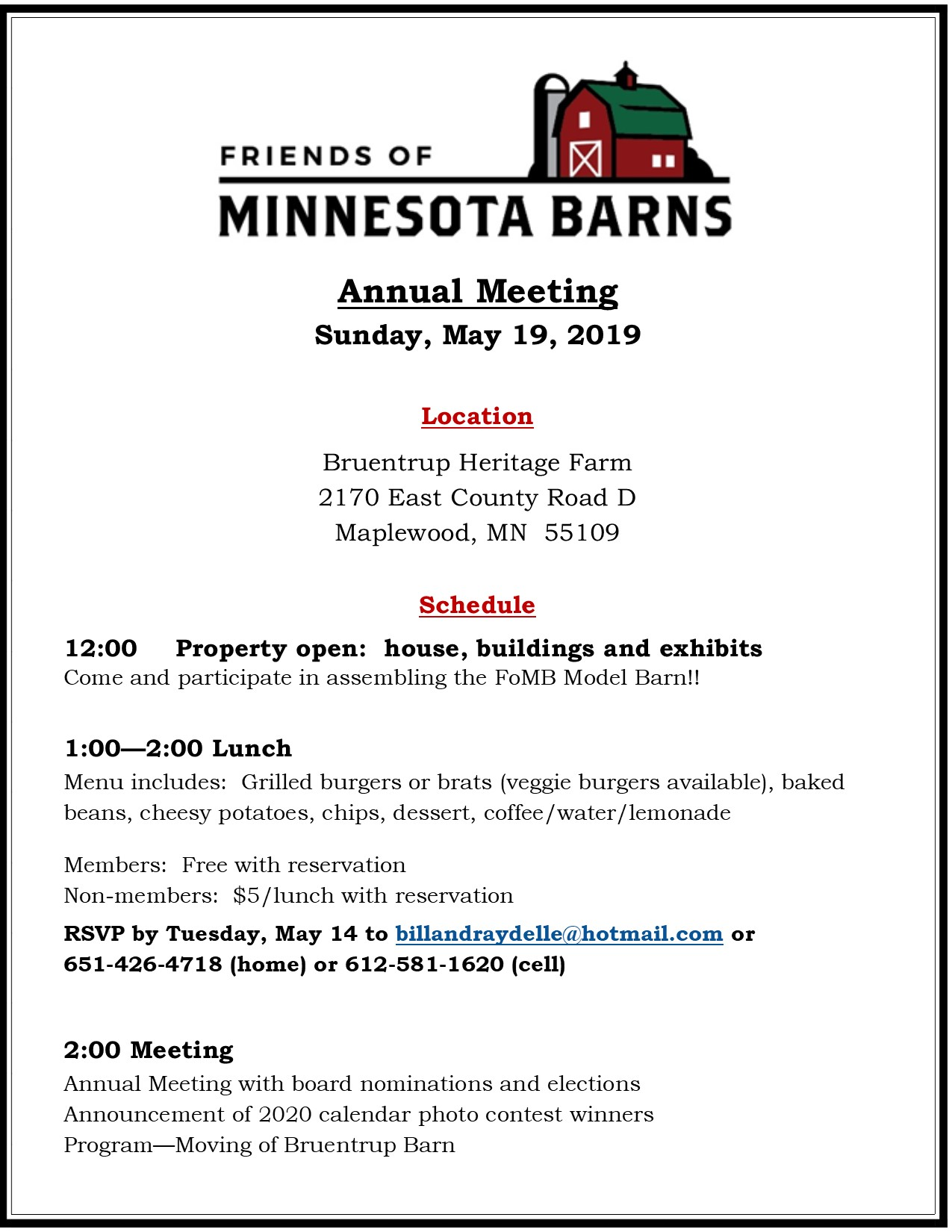 Upcoming Events — Friends of Minnesota Barns