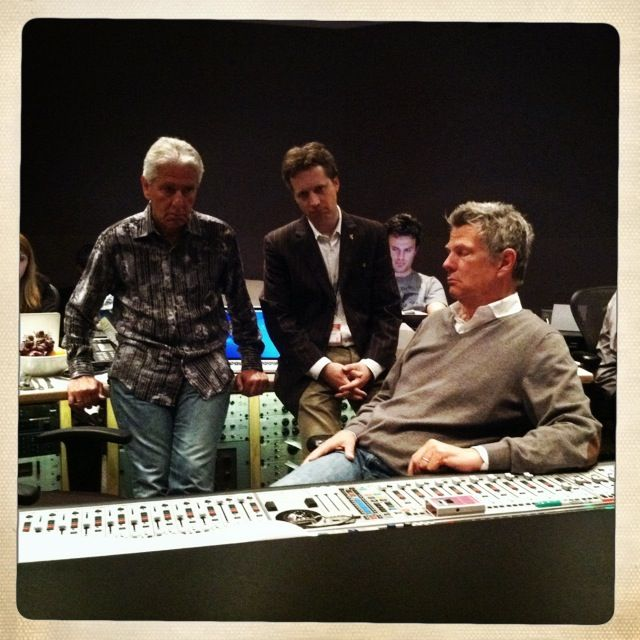 Jerry Hey, CW, David Foster at Capitol Studios (2013)