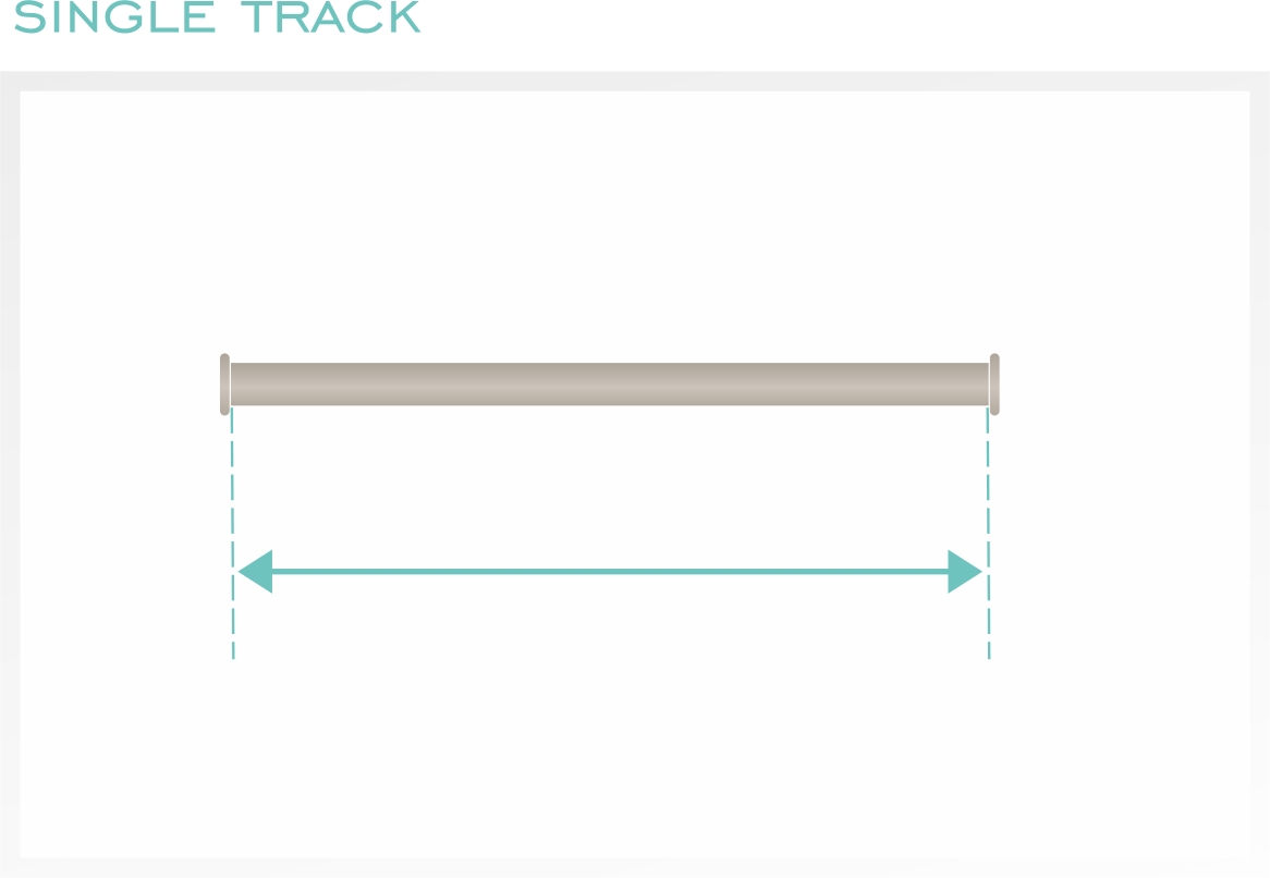 Measure the total width of your track.