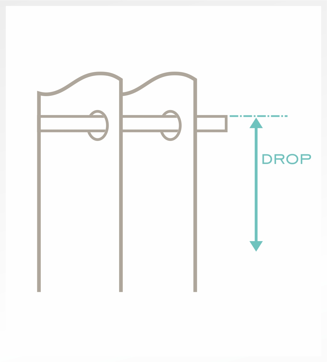 For an Eyelet heading . Measure the length(drop) from the top of the pole.