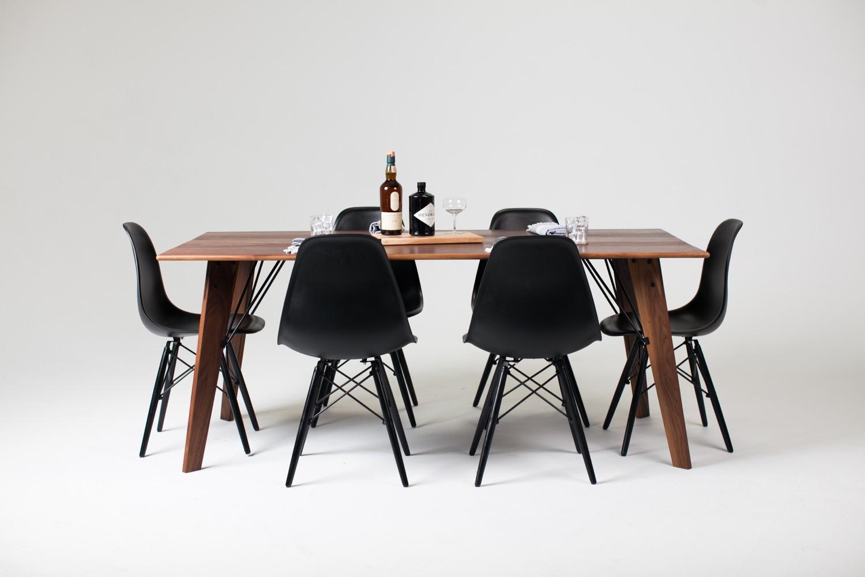 Bliss Table Black Walnut | Black powder coat