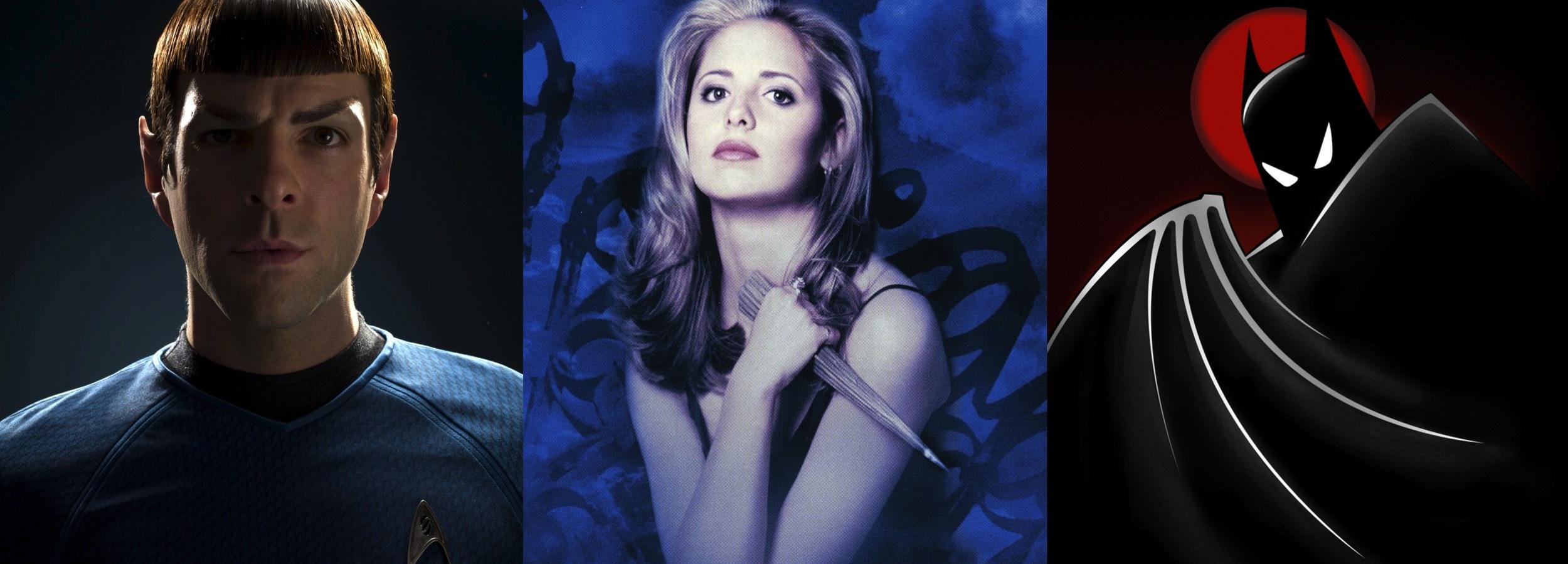 Spock (Star Trek 2009), Buffy the Vampire Slayer, Batman: The Animated Series
