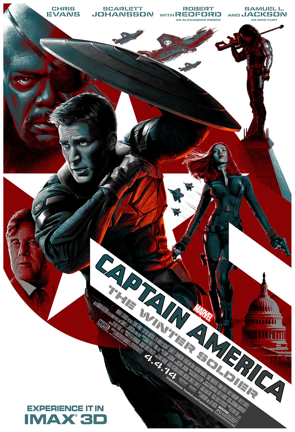 Captain America: The Winter Soldier IMAX 3D poster