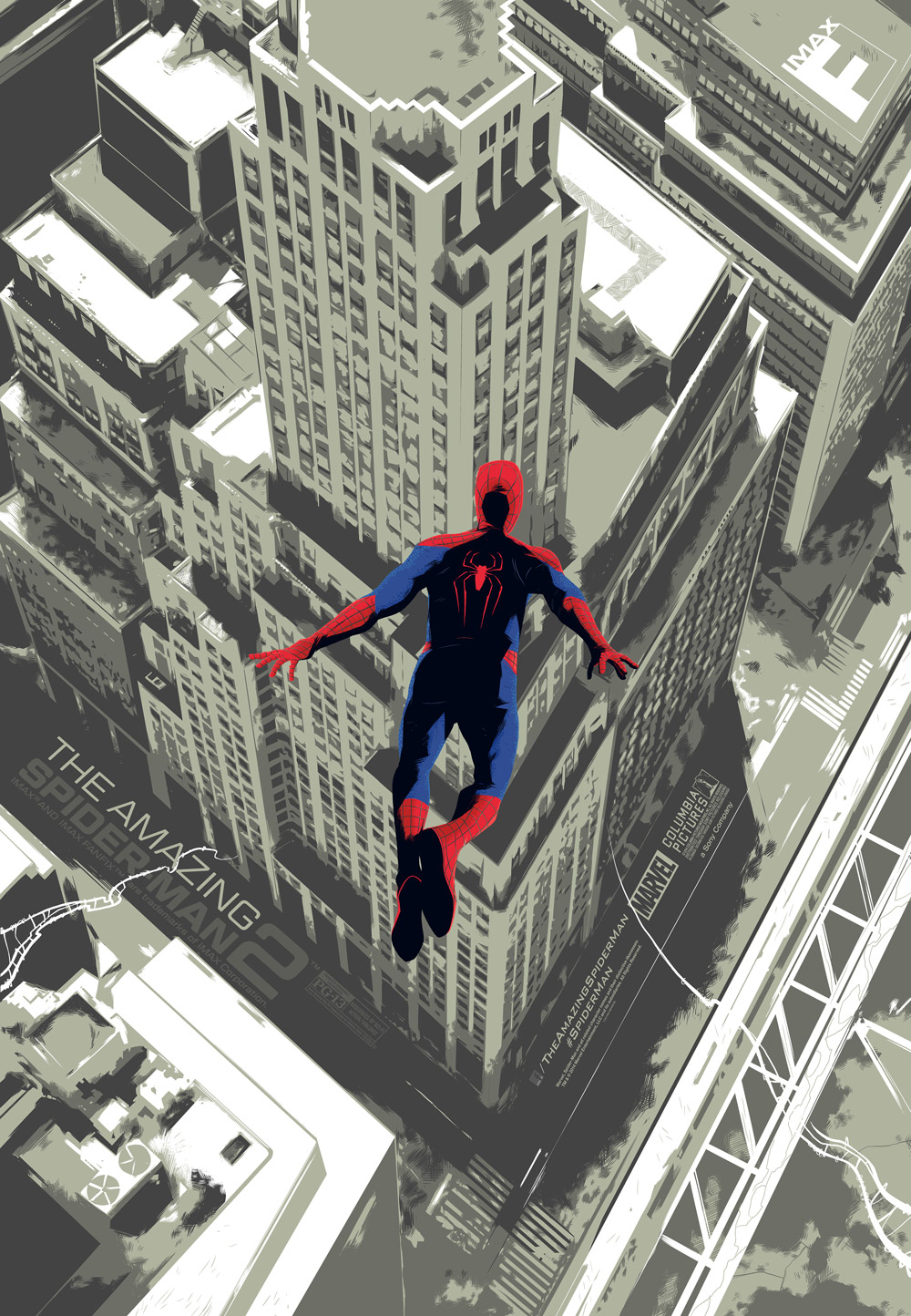 The Amazing Spider-Man 2 IMAX poster by   Matt Taylor