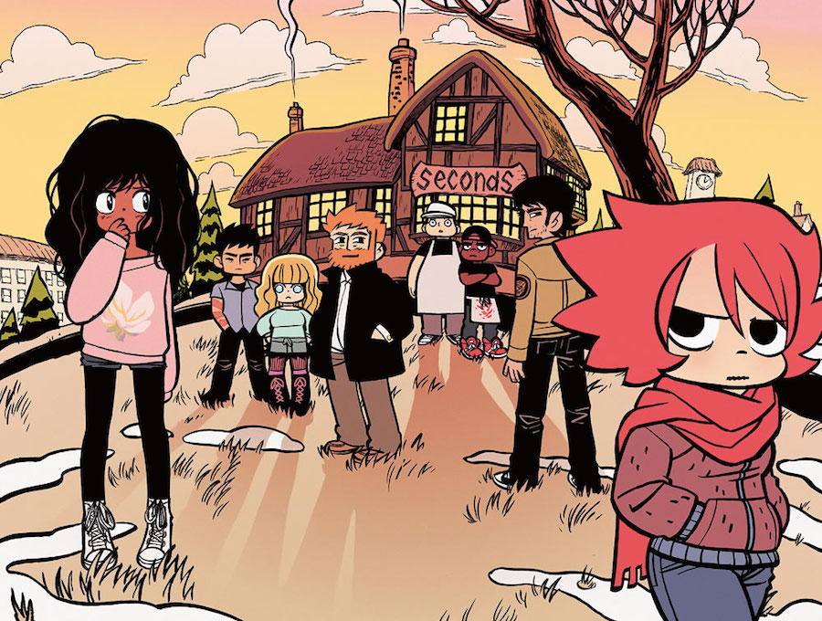 Katie, Hazel, and the rest of the cast of Seconds by Bryan Lee O'Malley.