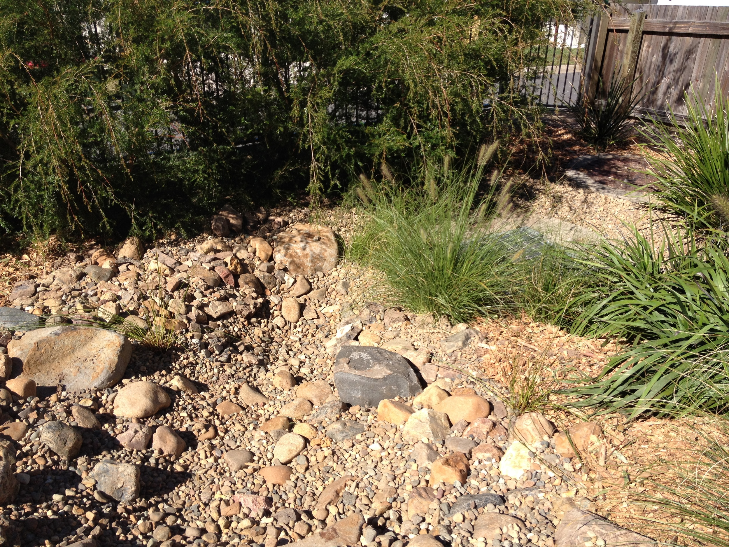 Completed Dry Creek Bed